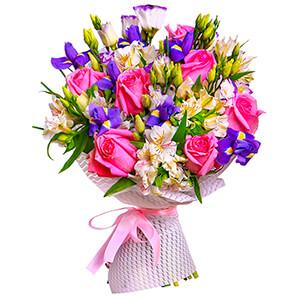 Прекрасный букет +30% цветов с доставкой в Иркутске