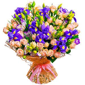 Дизайнерский букет +30% цветов с доставкой в Иркутске